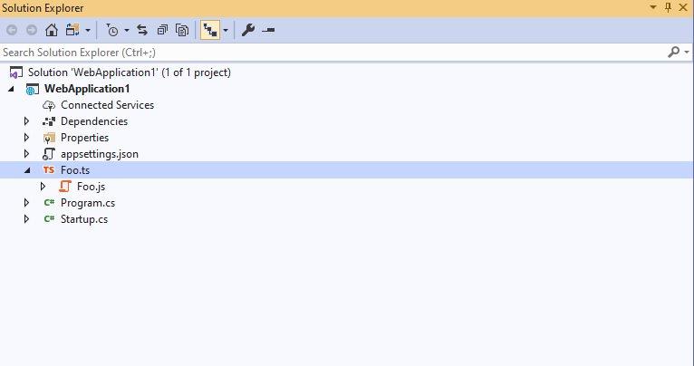 Visual Studio TypeScript Support
